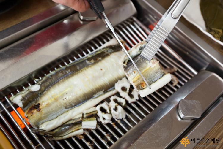 바다장어나라의 대표메뉴 바다장어구이 맛이 으뜸이다