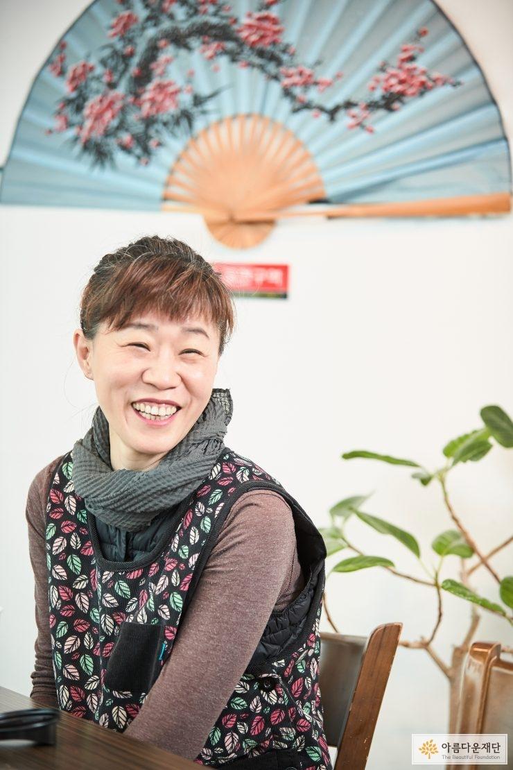 웃고있는 김향미 대표