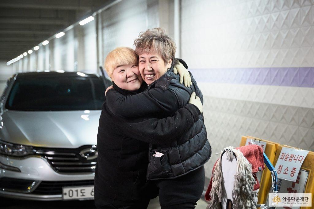 전수창업 이수자 김주원 대표와 전수자 한기순 대표